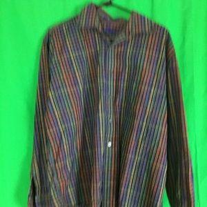 L Vintage Purple Alan Flusser Button Down